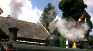 Stock Video Footage of Steam train at the station
