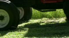 Hay harvest Stock Footage