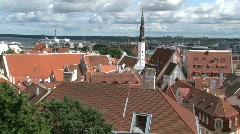 Downtown Tallinn Stock Footage