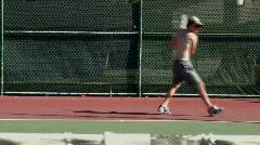 Tennis training Stock Footage