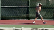 Stock Video Footage of Tennis training