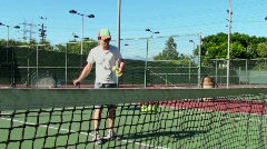 Teaching Tennis - HD Stock Footage