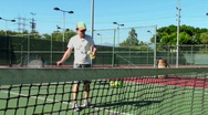Stock Video Footage of Teaching Tennis - HD