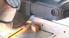 Man Cuts Wood Stock Footage