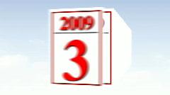 Calendar Animation -2 - stock footage
