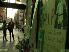 Michael Jackson Memorial - London England 5 Stock Footage