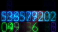 Random electronic numbers flashing in a seamless loop Stock Footage