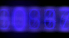 Random electronic numbers flashing in a seamless loop - stock footage