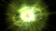 Seamless pulsing atom loop Stock Footage