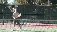Tennis volleys Stock Footage