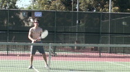Stock Video Footage of Tennis volleys
