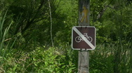 No bikes on Walking Path Sign Stock Footage