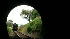 Steam train entering tunnel Stock Footage