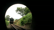 Stock Video Footage of Steam train entering tunnel