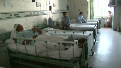 xinjiang riots hospital wounded han - stock footage