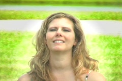 Beautiful Blonde Outdoors-1 Stock Footage