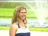 Beautiful Blonde Outdoors-4 Stock Footage