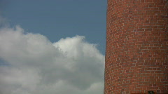 Brick chimney and clouds. Stock Footage
