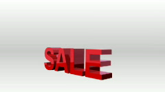 Animated sale sign Stock Footage