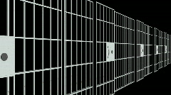 Prison Bars  Stock Footage