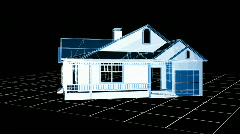 Wire-frame house Stock Footage