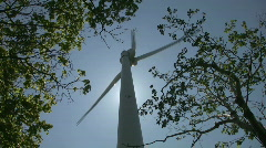 Windmill and trees. Stock Footage