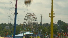 Fairground midway rides, montage Stock Footage
