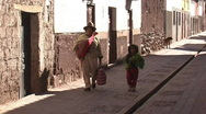 Stock Video Footage of Street of Pisac