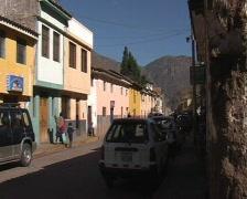 Street of Pisac Stock Footage