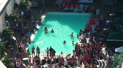 Pool Party Timelapse HD - stock footage