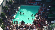 Pool Party Timelapse HD Stock Footage