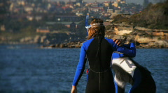 Snorkelers HD Stock Footage