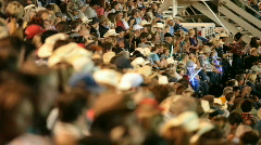 Crowd rodeo shallow group of people shallow DOF P H 1144 - stock footage