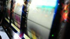 Slot Machine Closeup Stock Footage