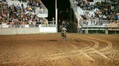 Rodeo woman barrel racing P HD 1129 Stock Footage