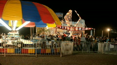 Carnival rides night rural community family fun P HD 1162 - stock footage
