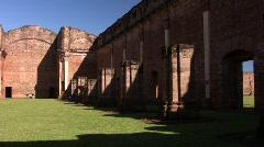 Tavarangue jesuit ruins 05 - stock footage