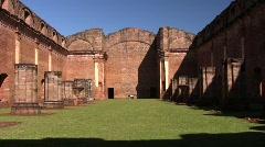 Tavarangue jesuit ruins 03 - stock footage
