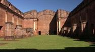 Tavarangue jesuit ruins 03 Stock Footage