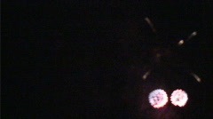 Exploding fireworks in July Stock Footage