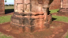Tavarangue jesuit ruins 08 Stock Footage
