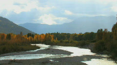 Snake River in Wyoming in Fall Stock Footage
