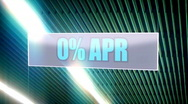 Stock Video Footage of 0 percent APR