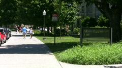 Virginia Tech Eggleston hall sidewalk - stock footage