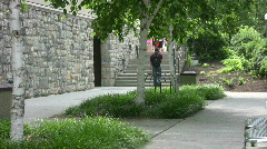 stairs at Virginia Tech - stock footage