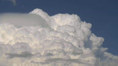 Clouds, thunderhead close up, timelapse Stock Footage