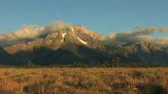 Wyoming Mountains Zoom In Stock Footage