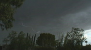 Stock Video Footage of Lightning bolts with sound