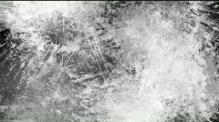 Black and white paint splatters - digital animation - stock footage