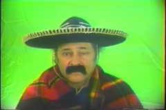 Mexican tipping his hat Stock Footage